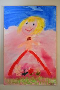 Autoportrait - premier dessin de ma fille à l'école maternelle en septembre 2001