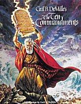 Le personnage de Moïse est interprété par Charlton Heston.