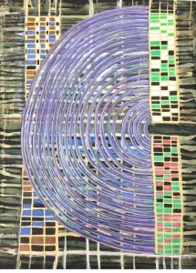 Incroyable. Je tape Combinatoire II clouâtre dans Google et je tombe pile sur la toile de mon ami, dont le vrai titre est Combinatoire floue. S'il ne l'a pas vendue, j'aimerais l'acheter.