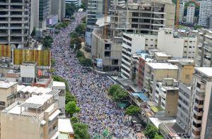 Manifestation anti Maduro le 1er septembre 2016 à Caracas.